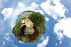 Foto Erde - Panoramaeffekt