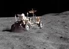 Foto Fahrzeug auf dem Mond