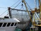 Foto Fischerboot Netz