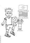 Malvorlage  Fussball spielen