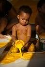 Foto Kind mit Farbe