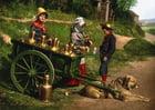 Foto Milchverkäufer mit Hundekarre - 1890 Belgien