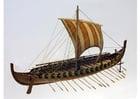 Foto Modell des Wikingerschiffs Gokstad