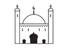 Malvorlage  Moschee