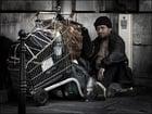 Foto Obdachloser Mann in Paris