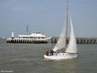 Foto Pier und Segelboot