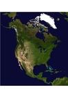 Foto Satellitenfoto Nordamerika
