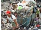 Foto slum in Jakarta, Indonesien