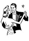 Malvorlage  tanzen