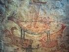 Foto Wandmalerei in Höhle