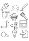 Malvorlage  Werkzeuge