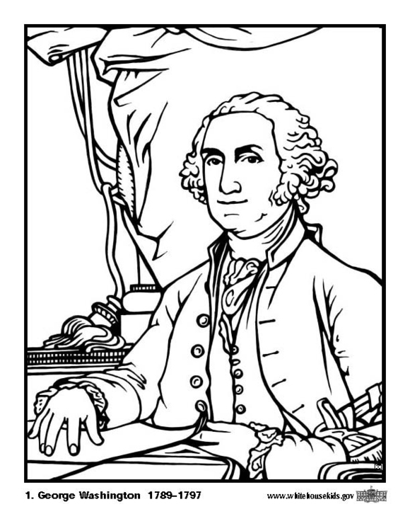 Erfreut George Washington Malvorlagen Zeitgenössisch ...