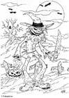 Malvorlage  01 Halloween