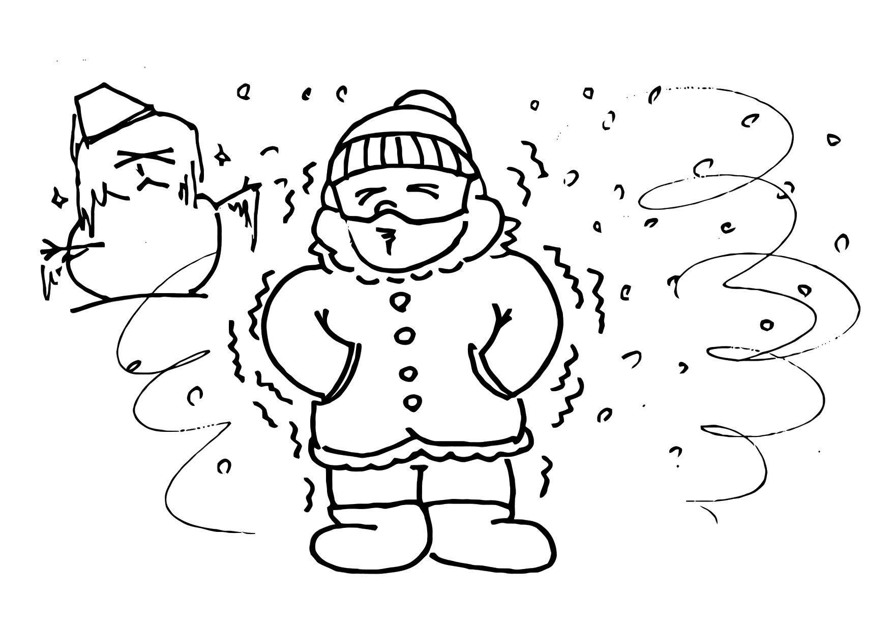 Winter Ausmalbilder : Malvorlage 013b Kalt Winter Ausmalbild 20451