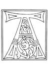 Malvorlage  01a. Alphabet A