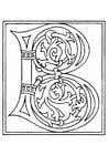 Malvorlage  01a. Alphabet B
