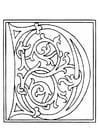 Malvorlage  01a. Alphabet D