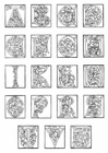 Malvorlage  01a. Alphabet Ende 15. Jahrhundert