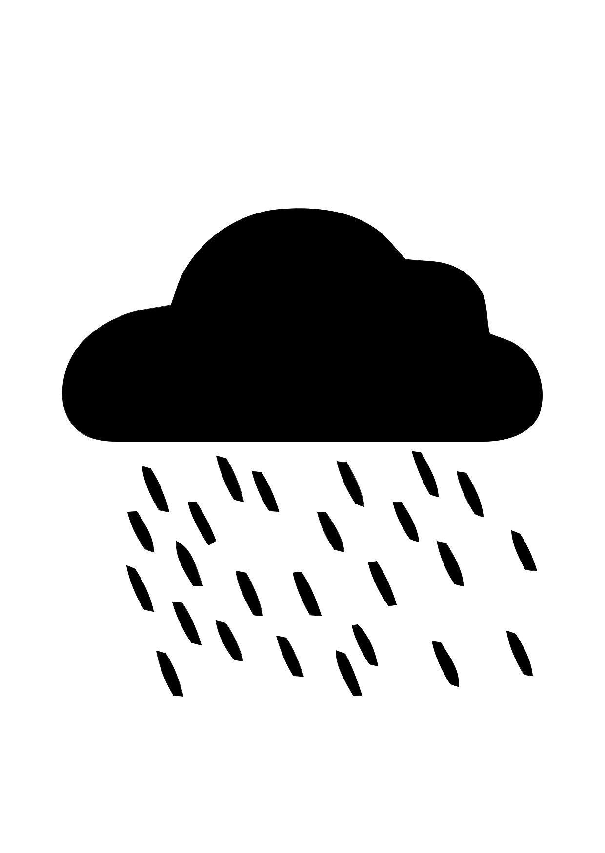 Malvorlage 01a Regen Ausmalbild 11298