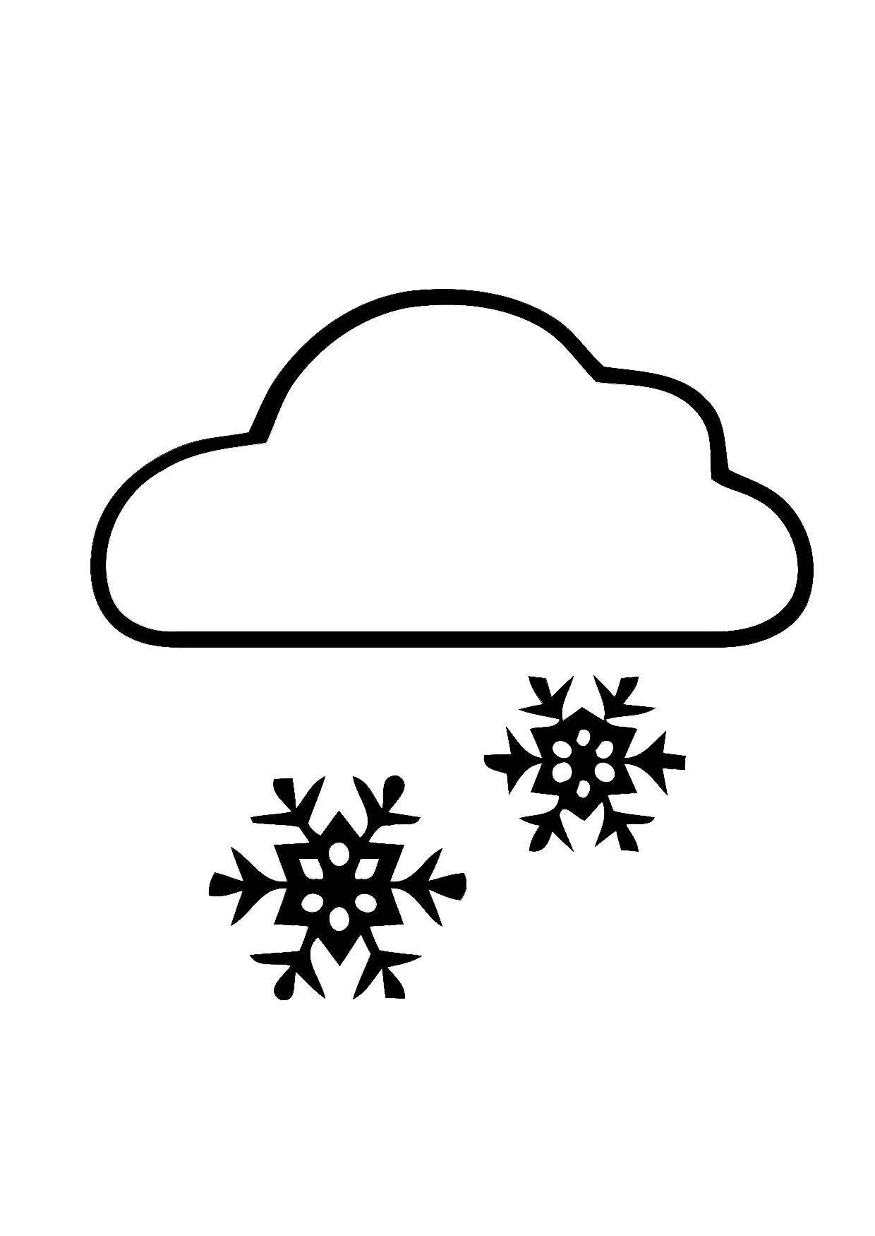 Malvorlage 01a. Schnee | Ausmalbild 11396.