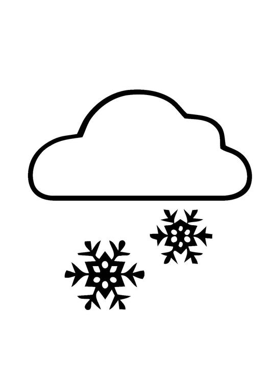 Malvorlage 01a. Schnee   Ausmalbild 11396.