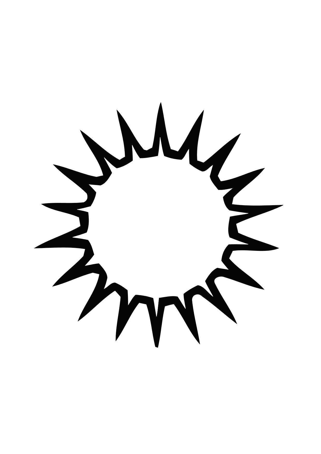 Malvorlage 01a Sonne Ausmalbild 13838