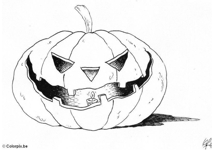 malvorlage 04 halloween kürbis  kostenlose ausmalbilder