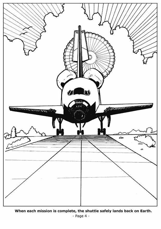 Malvorlage 04 Raumschiff Landet Ausmalbild 6771 Images