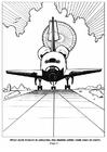 Malvorlage  04 Raumschiff landet