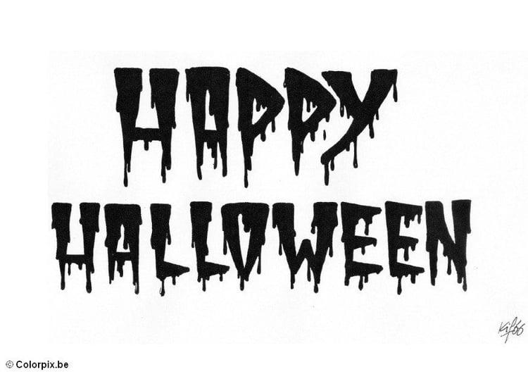 Malvorlage 05 happy halloween | Ausmalbild 5190.