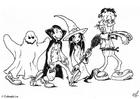 Malvorlage  06 halloween feiern