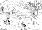 Malvorlage  06b. Frühling