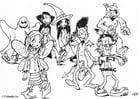 Malvorlage  07 halloween feiern