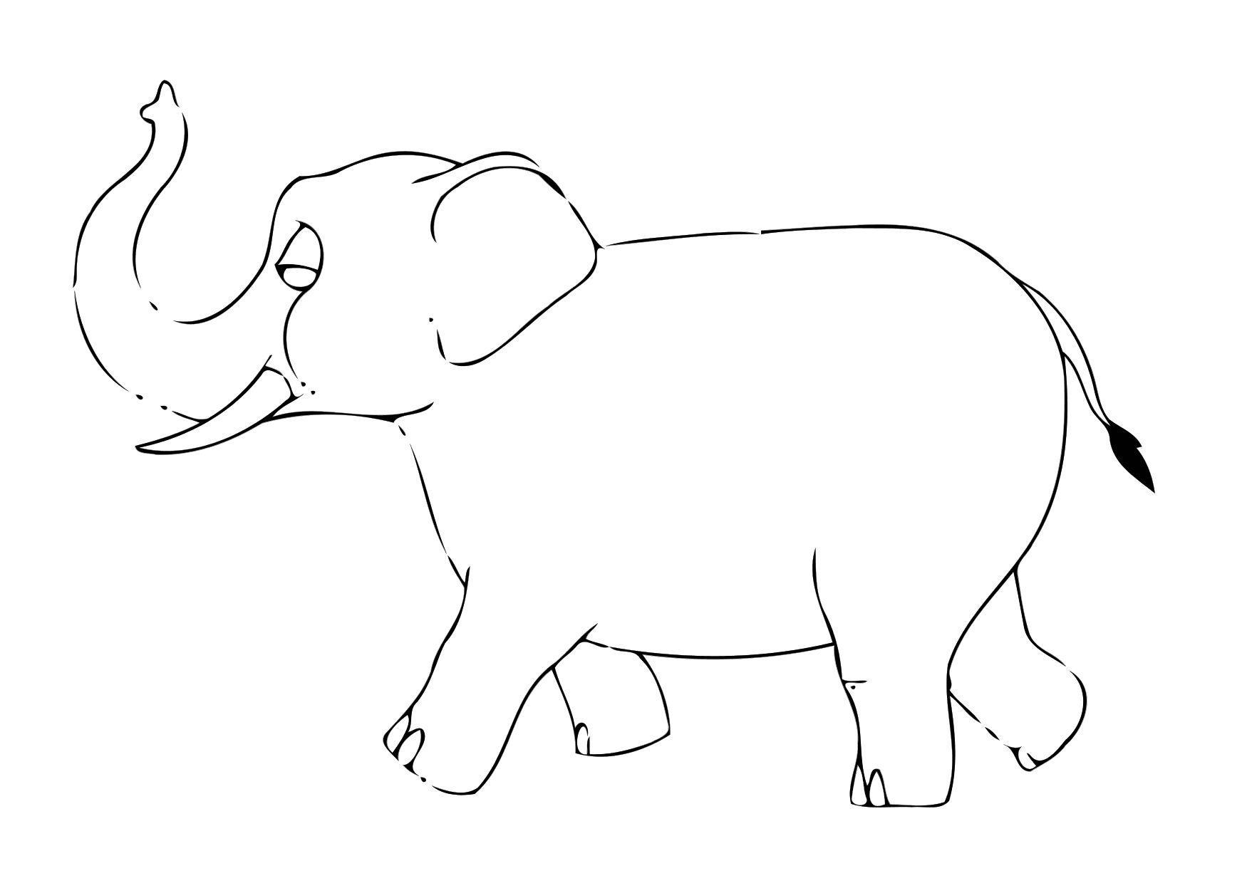 malvorlage 07b elefant  kostenlose ausmalbilder zum