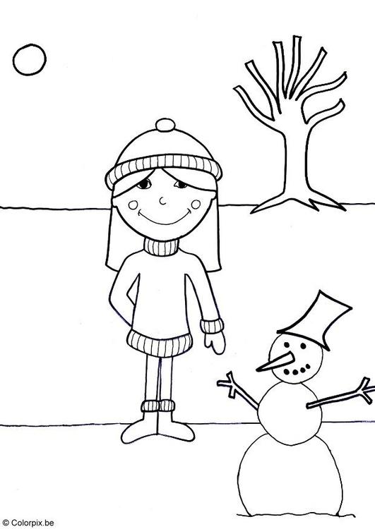 Malvorlage 07b Winter Kostenlose Ausmalbilder Zum Ausdrucken
