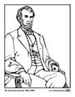 Malvorlage  16 Abraham Lincoln