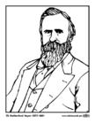 Malvorlage  19 Rutherford Hayes