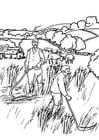 Malvorlage  1c Landarbeiter