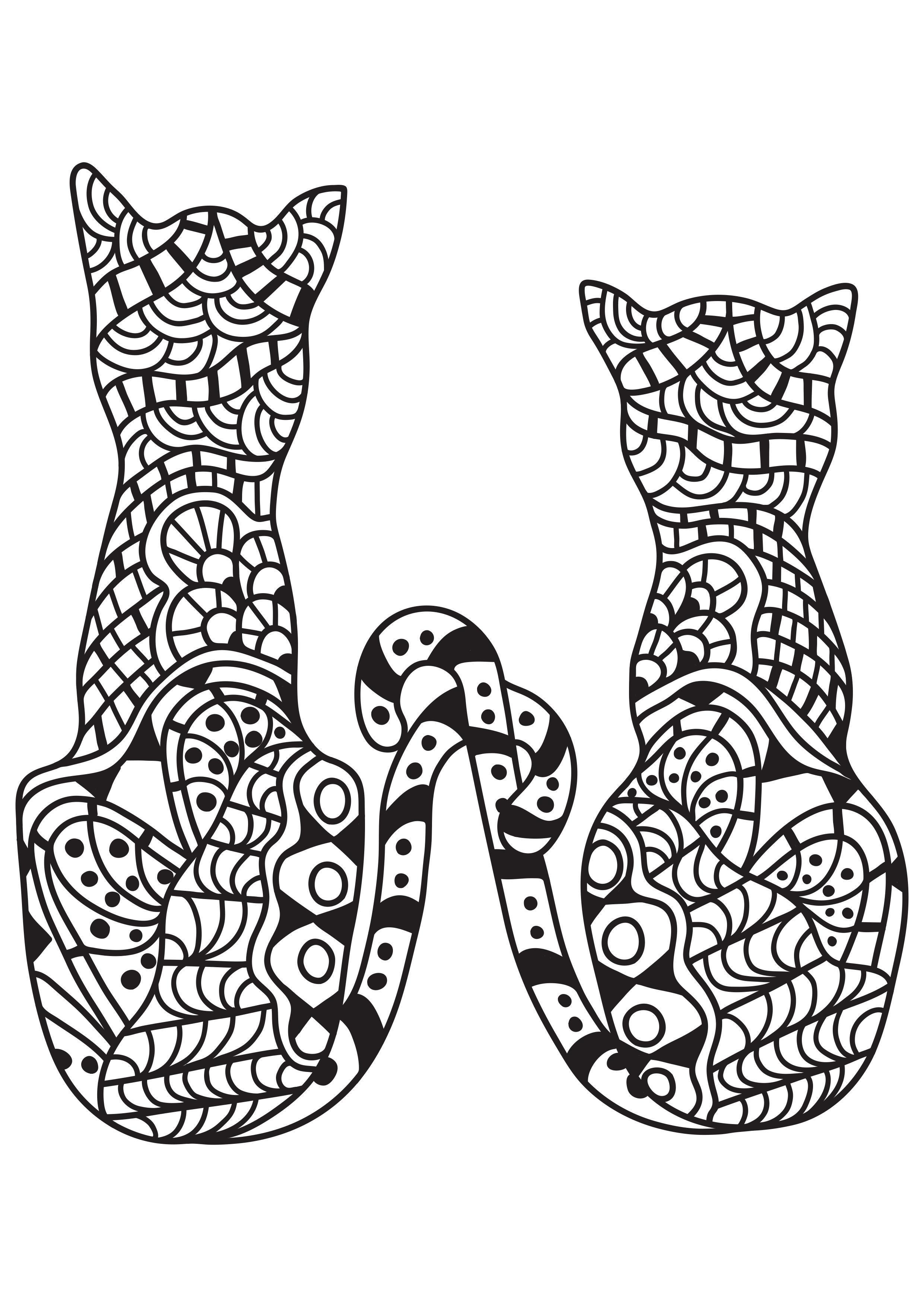 Malvorlage 22 Katzen - Kostenlose Ausmalbilder Zum Ausdrucken