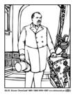 Malvorlage  22 - 24 Grover Cleveland
