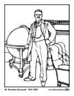 Malvorlage  26 Theodore Roosevelt