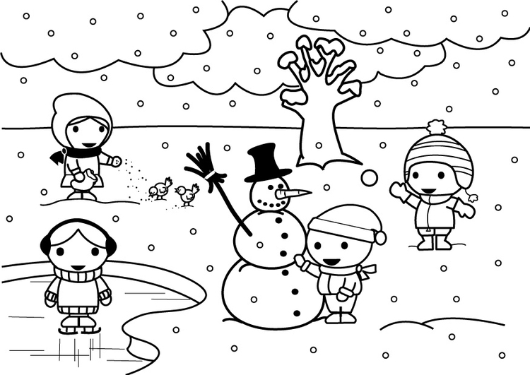malvorlage 2b winter  kostenlose ausmalbilder zum