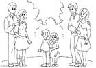 Malvorlage  3. Eltern mit neuen Partnern