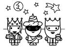 Malvorlage  3 Könige