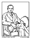 Malvorlage  31 Herbert C. Hoover