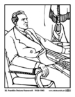 Malvorlage  32 Franklin Delano Roosevelt
