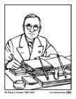 Malvorlage  33 Harry S. Truman