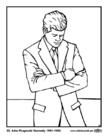 Malvorlage  35 John Fitzgerald Kennedy