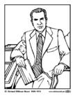 Malvorlage  37 Richard Milhous Nixon