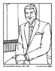 Malvorlage  40 Ronald Wilson Reagan